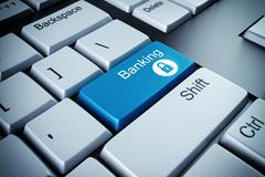 Banking key - stock illustration