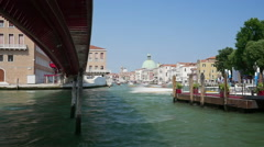 Passenger boats pass by on the Grand Canal in Venice, Italy Arkistovideo
