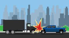 car vs suv crash on the street - stock illustration