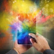 Cellphone colour burst Stock Photos