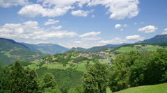 Timelapse video of a beautiful landscape at Italian South Tyrol - stock footage