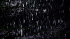 Mountain Waterfall Splashing Small Drops Slow Motion and dolly movement Stock Footage