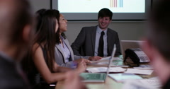 4k, diverse group of business people having a meeting. Slow motion. Stock Footage