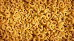 Macaroni Pasta Rotating - stock footage