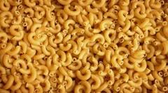 Macaroni Pasta Rotating Stock Footage