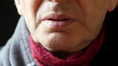 Man Suffers Cold Symptoms Stock Footage
