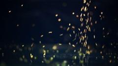 Glitter falling on glass seamless loop Stock Footage