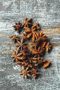 Food Background with Heap of Star Anise Stock Photos