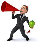 Evil businessman - stock illustration