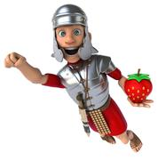 Roman soldier - stock illustration