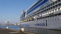 Cruise ship aida Mar part 3 Stock Footage