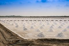 Stock Photo of salt farming in Thailand