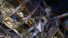 Hubble Telescope Replica Close Up at Kennedy Space Center, 4K Stock Footage