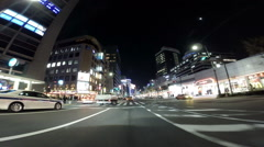 Driver's POV through the entertainment district of Yurakucho Stock Footage