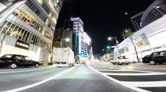 Overexposed Driver POV through neons in Tokyo. Stock Footage