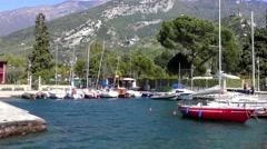 4K footage recorded on April 20, 2015, in Riva del Garda, at Lake Garda in Italy Stock Footage