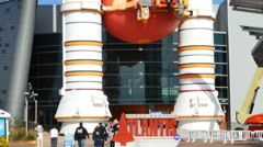 Space Shuttle Solid Rocket Boosters at Kennedy Space Center, 4K Stock Footage