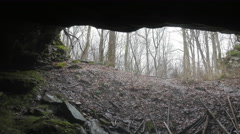View from Sand Cave at Mammoth Cave National Park (where Floyd Collins Died) Stock Footage