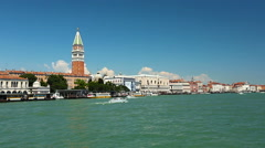Beautiful and magical Venice, view from the sea, Italy - stock footage