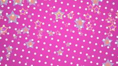 Pink Polka Dots Stars Stock Footage