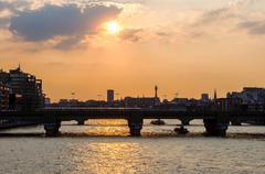 The river Thames in London Kuvituskuvat