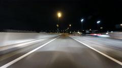 Full lap nightlapse of Tokyo Metropolitan highway. Stock Footage