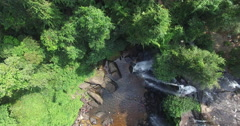 Aerial waterfall top view Stock Footage