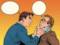 Conflict men fight quarrel businessman Stock Illustration