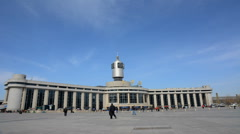 Time lapse  of Tianjin railway station. Stock Footage