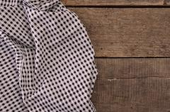 Checkered table cloth Stock Photos