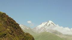 Mountain Kazbek in Georgia Stock Footage