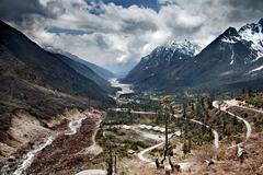 Yumthang Valley, Himalayan Kanchenjunga Region, Sikkim, India Stock Photos