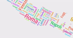 Cities of Italy Multicolored. Distributing from Rome to whole of Italy. Stock Footage