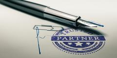 Trusted Partner, Service Background Stock Illustration