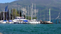 4K footage recorded on  in Riva del Garda, at Lake Garda in Italy Stock Footage