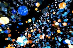 Abstract image background glowing particles - stock illustration