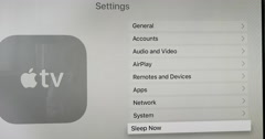 New Apple TV tuyrning off Stock Footage
