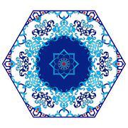 Antique ottoman turkish pattern vector design eighty four - stock illustration