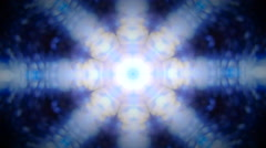 Vignette Kaleidoscope pattern of abstract lights - stock footage