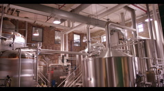 Stock Video Footage of View of machinery in distillery factory