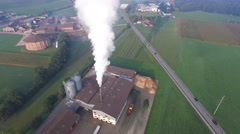 Aerial Footage: Vapor of an industrial company in Switzerland, 4K, UHD Stock Footage