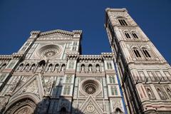 Low angle view of Duomo cathedral - stock photo