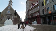 Quebec City Historic center 1 Stock Footage