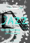 Vector jazz, rock or blues music poster template Stock Illustration