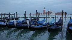 Gondolas on Grand Canal  Venice, Italy Stock Footage