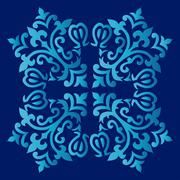 Antique ottoman turkish pattern vector design fifty nine - stock illustration
