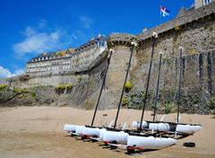 Saint Malo city walls, Brittany, France, Europe Stock Photos