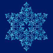 Antique ottoman turkish pattern vector design fifty seven - stock illustration