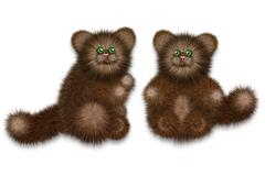 Brown Furry Cat Stock Illustration