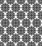 Antique ottoman turkish pattern vector design fifty three - stock illustration